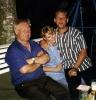 Andrè, Jutta und Papa im Garten